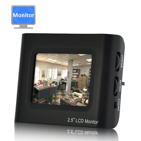 2.5 Inch LCD Monitor (CCTV Testing Kit) - Gadget Shop 4u